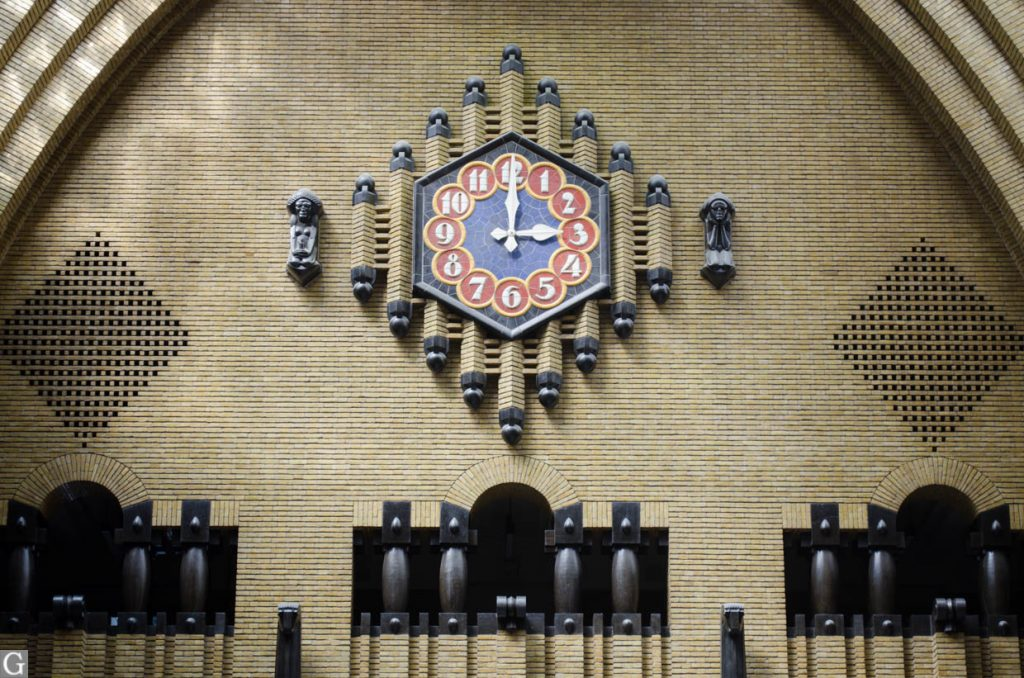 interieur postkantoor Neude, klok