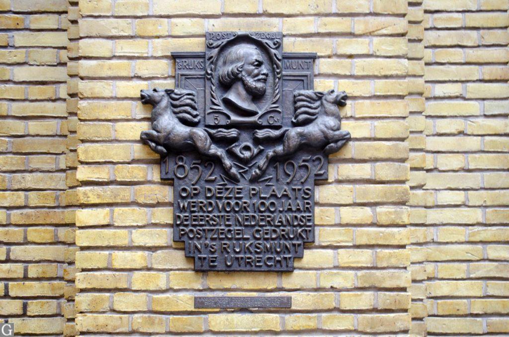 interieur postkantoor Neude, plaquette