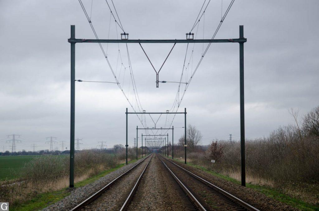 spoor Woerden-Breukelen bij Gieltjesdorp